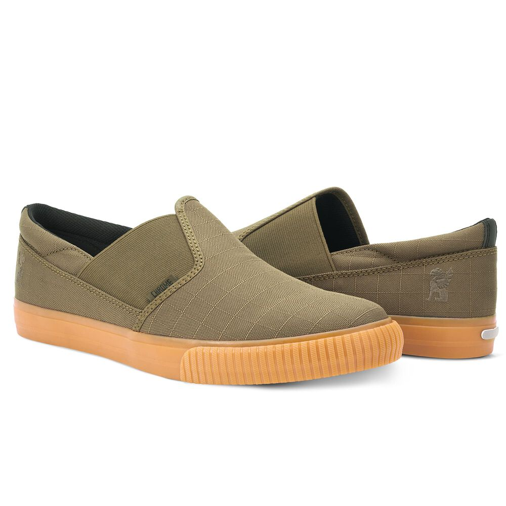 Dima 2.0 Sneaker in Army / Gum Ripstop - hi-res view.