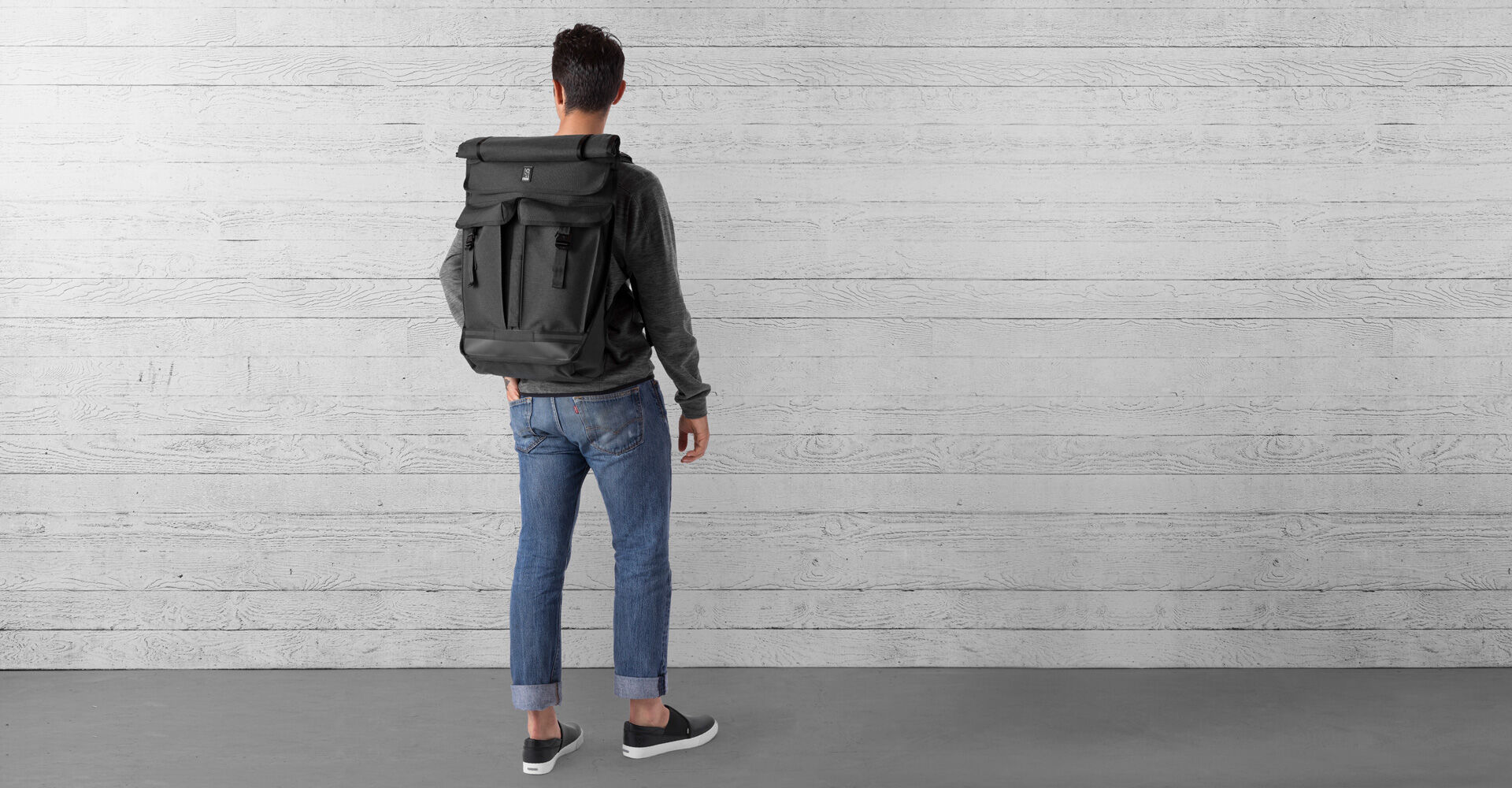 Pawn 2.0 Backpack in All Black - wide view.