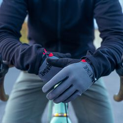 Cycling Gloves in Grey / Black - hi-res view.