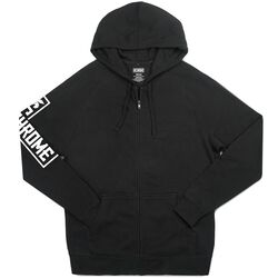 Flying Lion Zip Hoodie in Black - hi-res view.