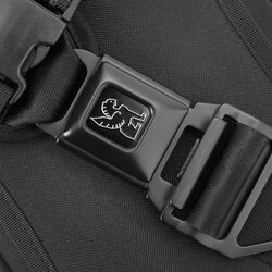 Kadet Nylon Sling Bag in Black / Aluminum - hi-res view.