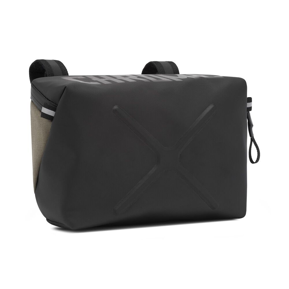 Helix Handlebar Bag in Olive - large view.