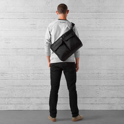Juno Travel Tote Bag in All Black - wide-hi-res view.