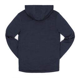 Merino Wool Cobra Hoodie in Mood Indigo - small view.