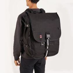 Warsaw 2.0 Messenger Backpack in Black - hi-res view.