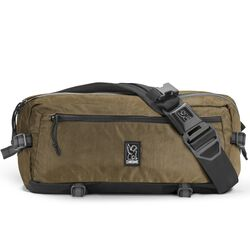 Kadet Sling Bag in Olive Overdye - hi-res view.