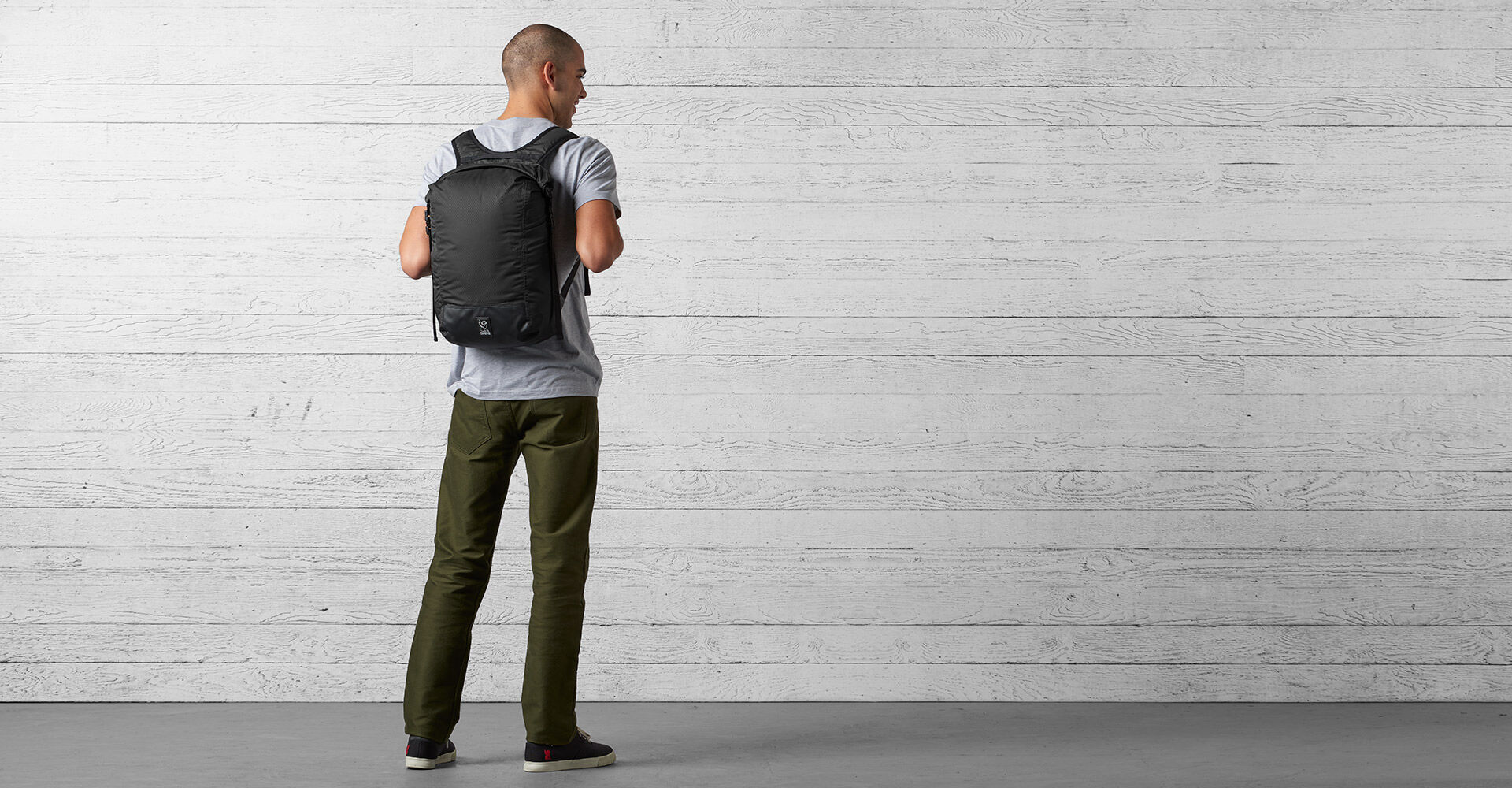 The Cardiel Orp Backpack in Black - wide view.