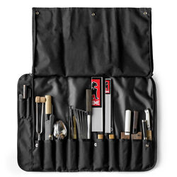 Chef's Knife Roll in All Black - large view.