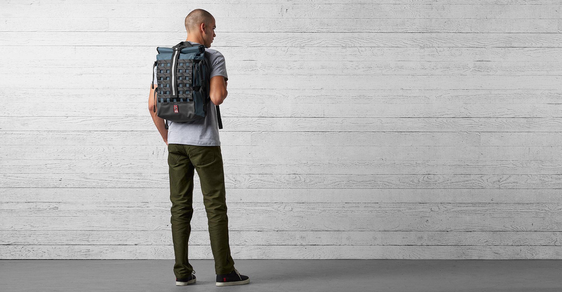 Barrage Cargo Backpack in Indigo - wide view.