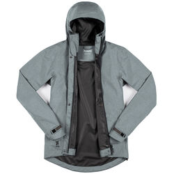 Women's Storm Signal Jacket in Lead - large view.