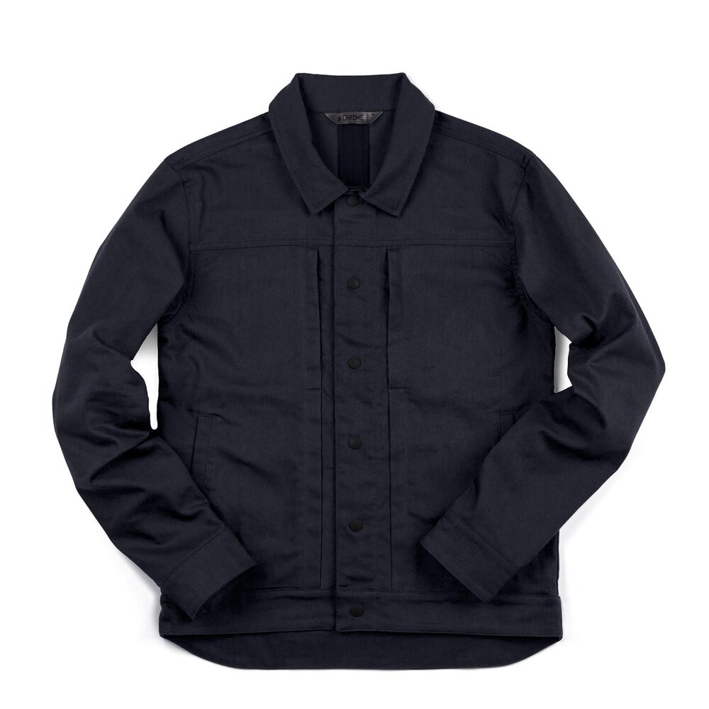Blake Cycling Trucker Jacket in Midnight - large view.