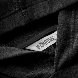 Merino Midweight Hoodie in Black - hi-res view.