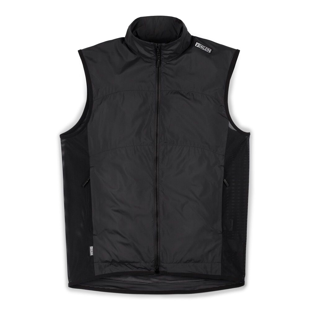 DKLEIN Zip Wind Vest in Black - large view.