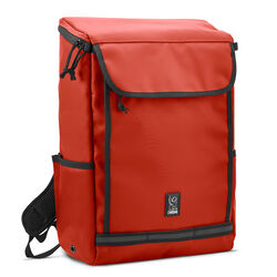 Volcan Backpack in Red / Tarp - hi-res view.