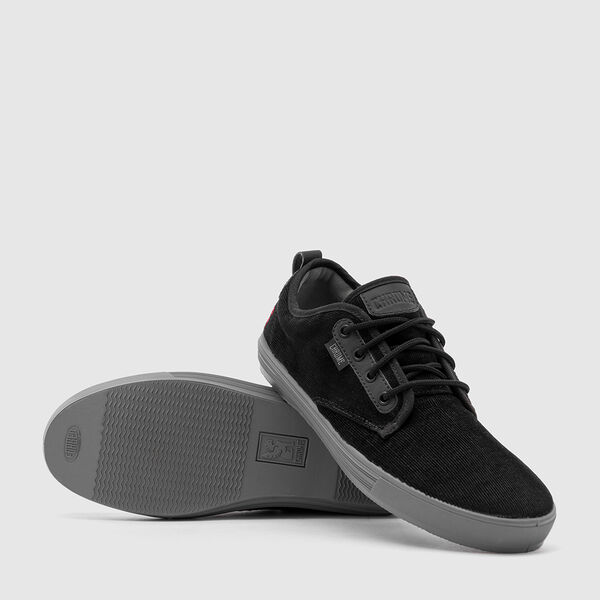 Ishak Sneaker in Black Corduroy - medium view.