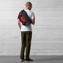 Mini Metro Messenger Bag in Black / Red - small view.