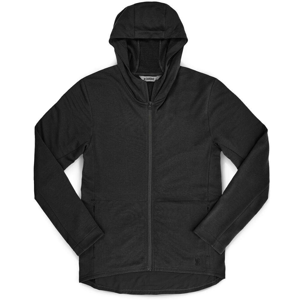 Merino Cobra Hoodie 2.0 in Black - hi-res view.
