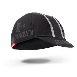 Chrome X Brooklyn Cycling Cap in Black Reflective - hi-res view.