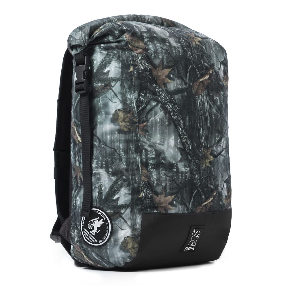 The Cardiel Orp Backpack in Darkwood Camo - large view.