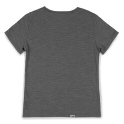 Women's Merino Short Sleeve Tee in Charcoal  - small view.