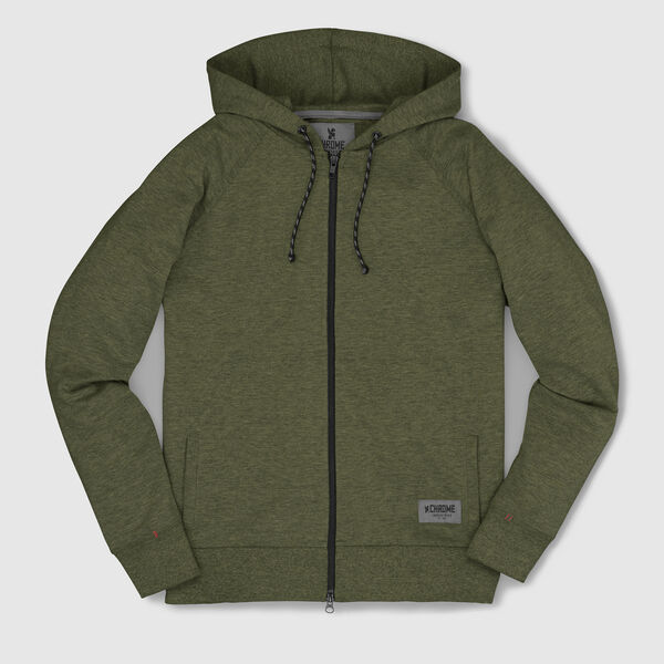 Hawthorne Zip Hoodie in Olive - medium view.
