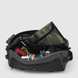 The Welterweight Kadet Messenger Bag in Charcoal / Black - small view.