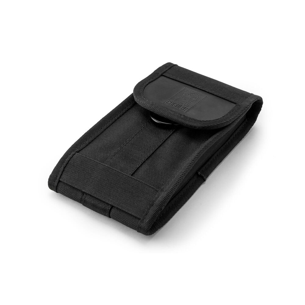 Large Phone Pouch in Black - large view.