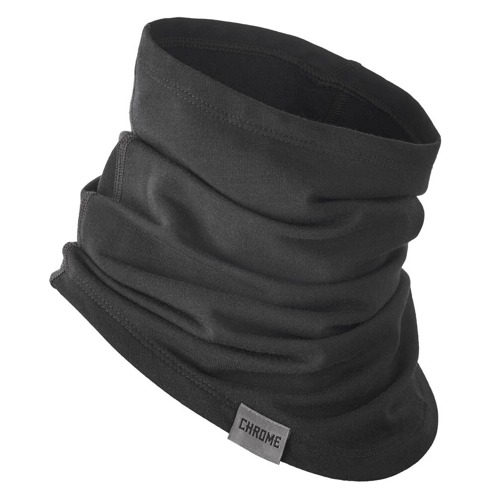 Merino Gaiter in Black - hi-res view.