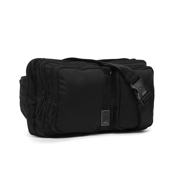 MXD Segment Sling Bag in All Black - medium view.