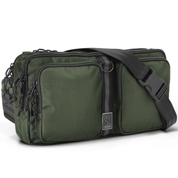 MXD Segment Sling Bag in Olive Ballistic - hi-res view.