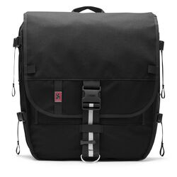 Warsaw II Messenger Backpack in Black - large view.