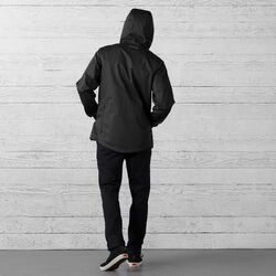 Skyline Windcheater Jacket in Black - wide-hi-res view.