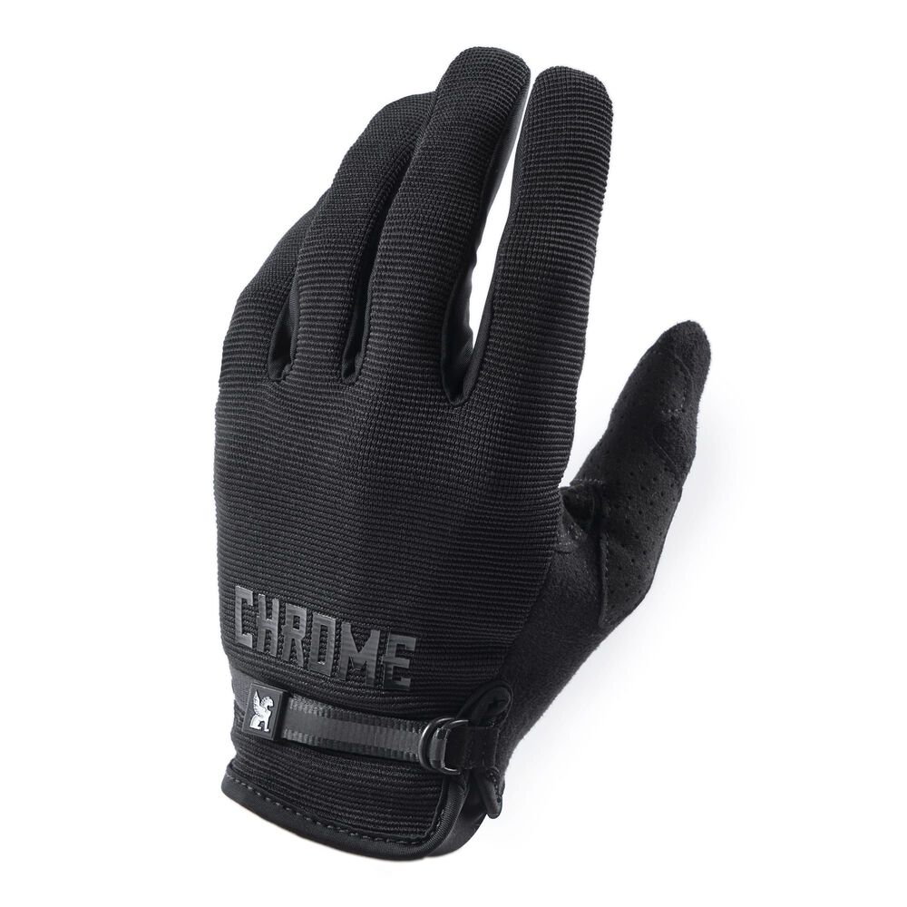 Cycling Gloves in Black - large view.
