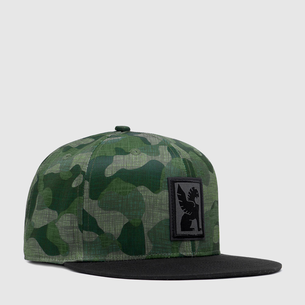 Baseball Cap in Camo Griffin - large view.