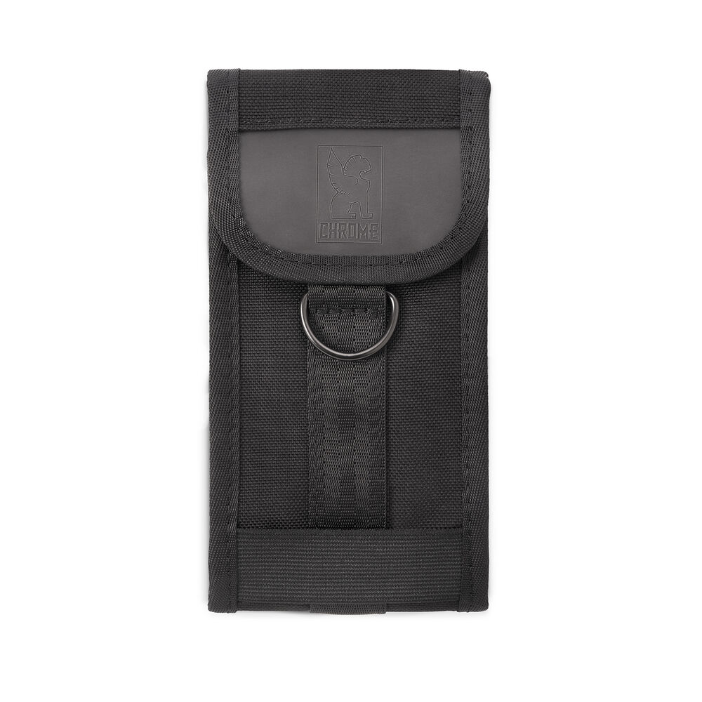 Large Phone Pouch in Black - hi-res view.