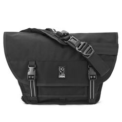 Mini Metro Messenger Bag in All Black - hi-res view.