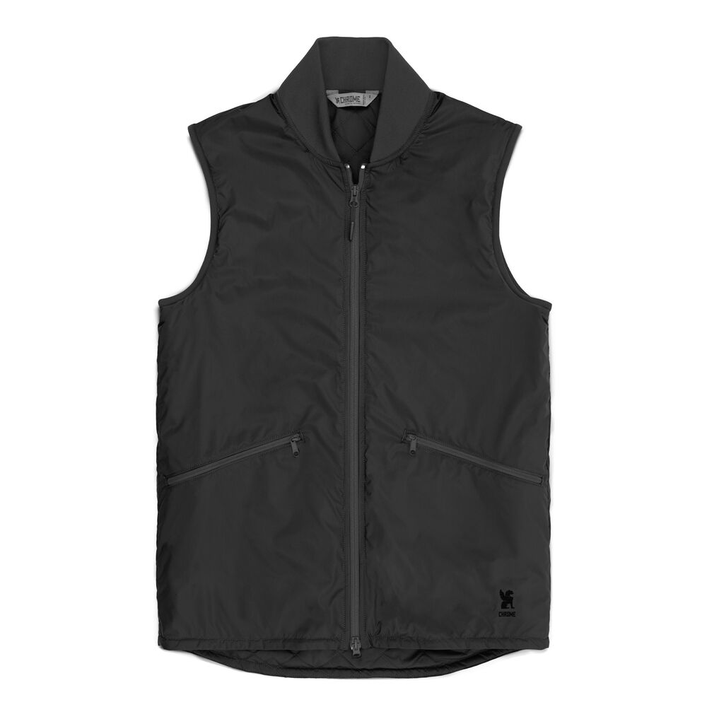Bedford Insulated Vest in Black - hi-res view.