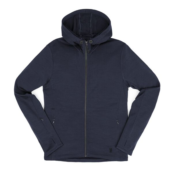Merino Wool Cobra Hoodie in Mood Indigo - medium view.