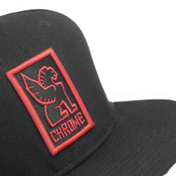 Baseball Cap in Black / Red - small view.