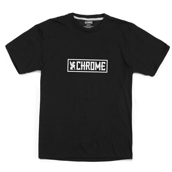 Horizontal Logo Tee in Black / White Graphic - hi-res view.