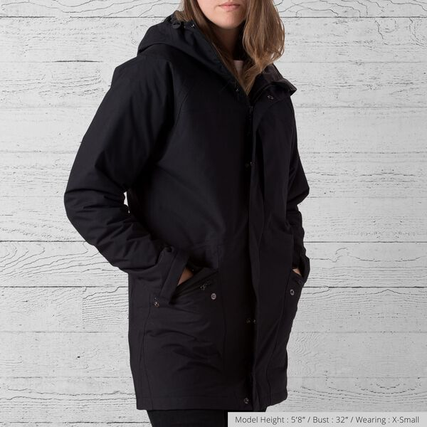 Storm Insulated Parka in Black - medium view.