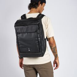 Volcan Backpack in Black Tarp / Clear - hi-res view.