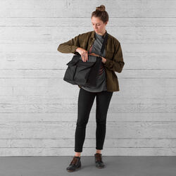 Juno Travel Tote Bag in All Black - small view.