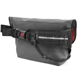 Citizen Messenger Bag in Grey / Red - hi-res view.