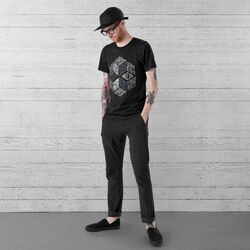 DKlein Short Sleeve Tee in Black - wide-hi-res view.