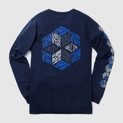 DKlein Long Sleeve Tee in Navy - small view.