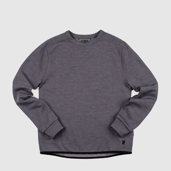 Stark Tech Fleece Crew in Gargoyle Grey - medium view.