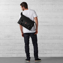 Conway Messenger Bag in Black - small view.