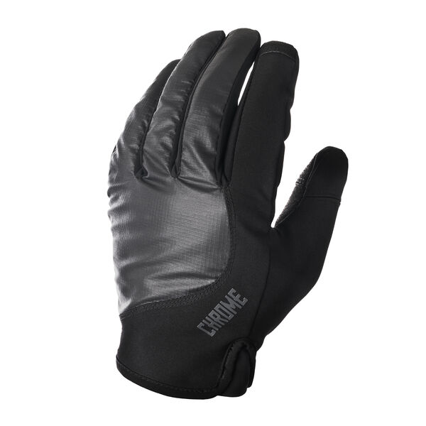 Midweight Cycle Gloves in Black - hi-res view.