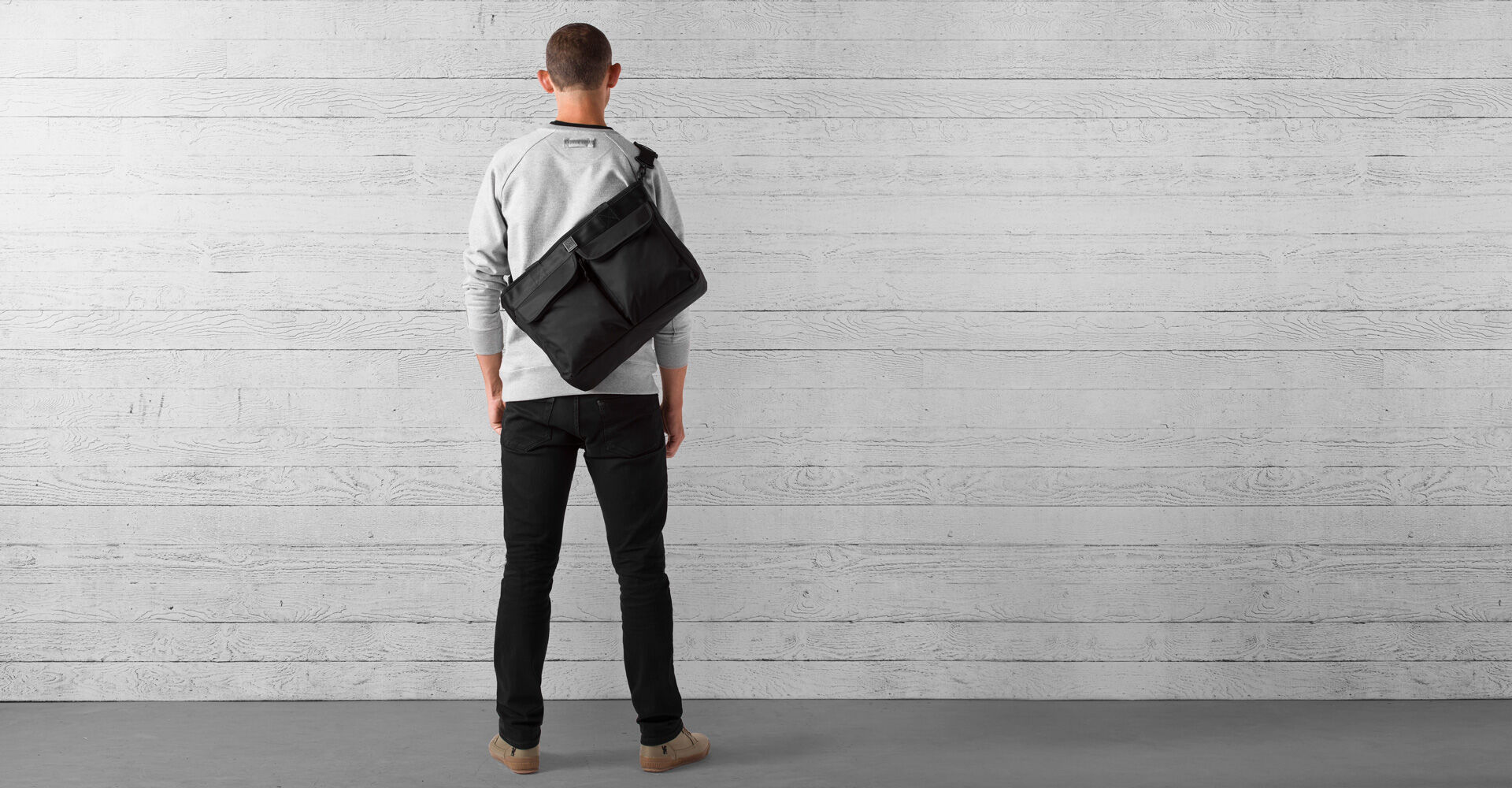 Juno Travel Tote Bag in All Black - wide view.